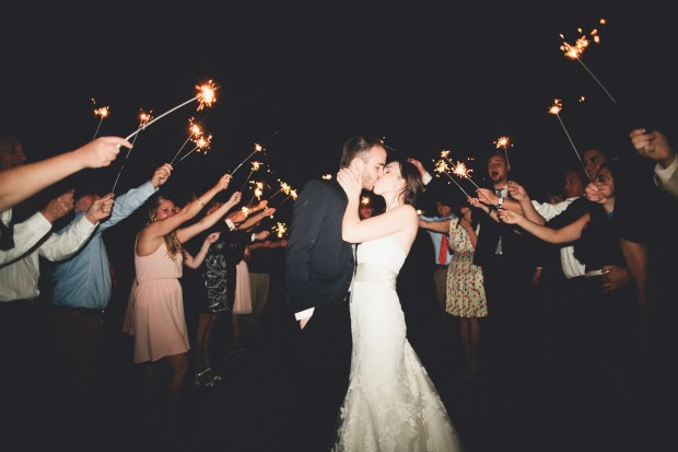 Sparkler Departure | Golden Gardens Bathouse Wedding | Perfectly Posh Events, Seattle Wedding Planner | Andria Linquist Photography | Holly + Dustin Wedding // © Andria Lindquist 2014