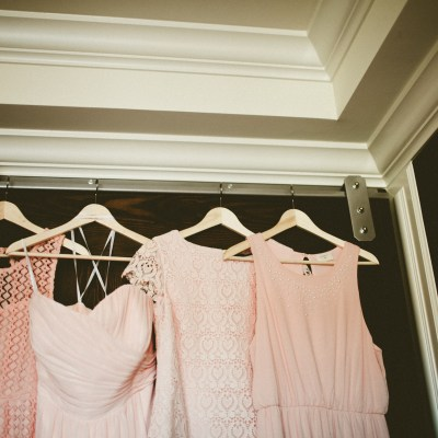 Golden Gardens Bathouse Wedding | Perfectly Posh Events, Seattle Wedding Planner | Andria Linquist Photography | Stacy Anderson Design | Various shades of pink bridesmaid dresses | Holly + Dustin Wedding // © Andria Lindquist 2014
