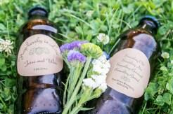 Home brew beer wedding favor with custom bottle labels | Meadowbrook Farm Wedding, Snoqualmie, WA | Perfectly Posh Events, Seattle Wedding Planner | Sasha Reiko Photography | Jesse + Wes Wedding // © Sasha Reiko Photography