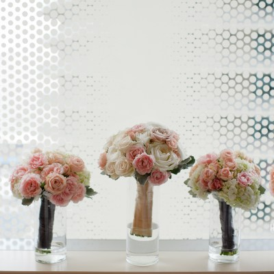 Melrose Market Studios Wedding in Seattle, WA | White and light pink bride and bridesmaid bouquets | Wedding Planning by Perfectly Posh Events, Seattle Wedding Planner | Kristen Honeycutt Photography | Floral Design by Contemporary Floral