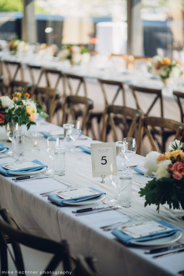 Hotel Ballard Wedding in Seattle, WA | Scandinavian Bohemian themed wedding with accents of blue and pops of orange | Perfectly Posh Events, Seattle Wedding Planner | Mike Fiechtner Photography | Floral Design by The London Plane