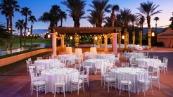 The Westin Misson Hills Golf Resort and Spa, Palm Springs wedding | reception space with dinner tables | Perfectly Posh Events, Seattle and Portland Wedding Planner
