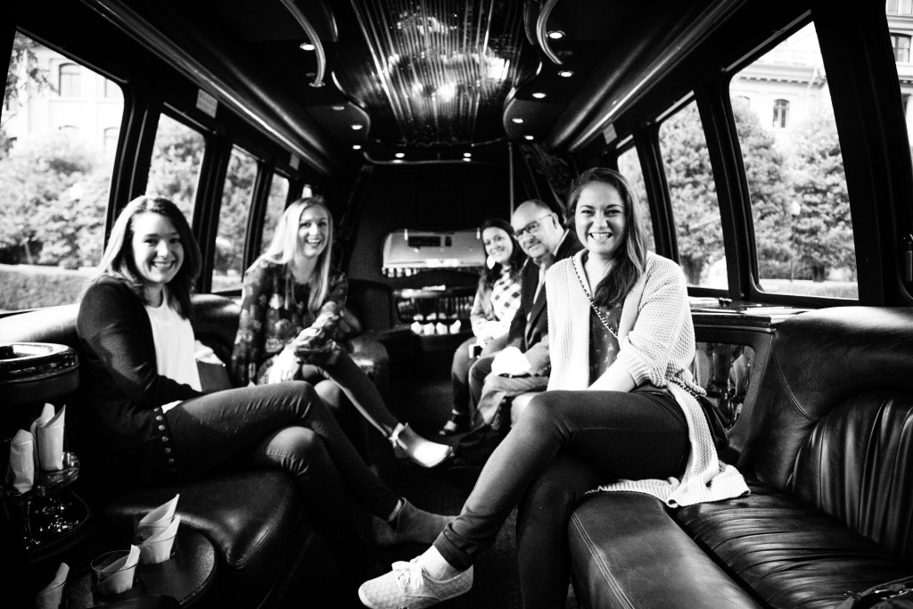 Let LA Limo in Victoria, BC be your private transportation for your wedding party, guests, and getaway transportation | Perfectly Posh Events, Seattle + Destination Wedding Planners | Ra Photography