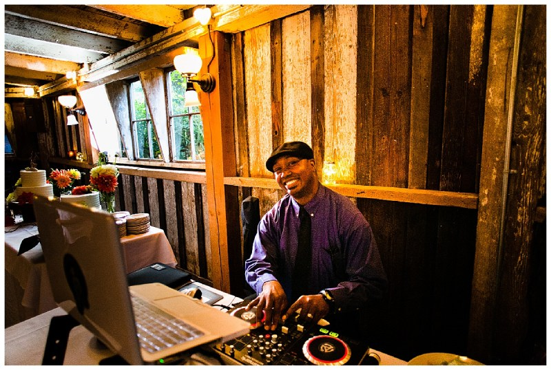 DJ Samir of Stumptown DJs at a Portland area wedding. Interview by wedding planners Perfectly Posh Events.