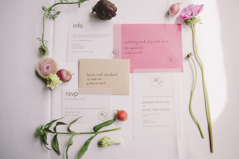 Vellum is a design trend we'll be seeing in the 2020 wedding season.