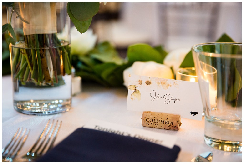 Hetal + Jake incorporated wine corks as a nod to the previous night's celebration into their wedding reception.