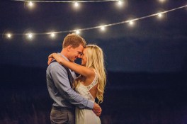 Edgewater House Wedding, Gig Harbor, WA | Bride and groom first dance under twinkly lights | Seattle Wedding Planner, Perfectly Posh Events | Mike Fiechtner Photography