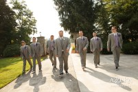 Laurel Creek Manor Wedding in Seattle   Grey groomsmen suits with lavender accents   Perfectly Posh Events, Seattle Wedding Planner   Azzura Photography