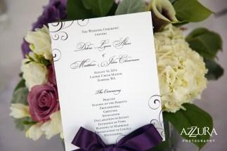 Laurel Creek Manor Wedding in Seattle   Ceremony program fan for summer weddings   Perfectly Posh Events, Seattle Wedding Planner   Azzura Photography   Sublime Stems