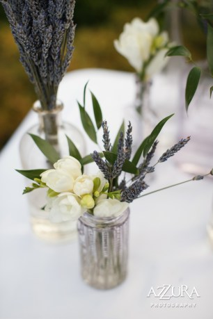 Laurel Creek Manor Wedding in Seattle   Lavender centerpieces for wedding reception with greenery   Perfectly Posh Events, Seattle Wedding Planner   Azzura Photography   Sublime Stems