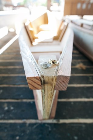 Center for Wooden Boats wedding in Seattle | Nautical wedding ring shot | Perfectly Posh Events, Seattle Wedding Planning | Kathryn Moran Photography