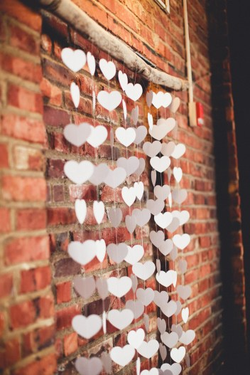 DIY wedding decor with paper hearts   Golden Gardens Bathouse Wedding   Perfectly Posh Events, Seattle Wedding Planner   Andria Linquist Photography   Holly + Dustin Wedding // © Andria Lindquist 2014