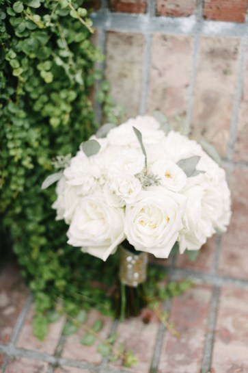 White bridal bouquet with garden roses, woodinville wedding planner, Allison Dan Woodinville Wedding by Perfectly Posh Events, Photo by Blue Rose Photography