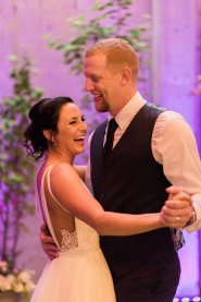 Makayla and Johnny at Fremont Foundry   Alexandra Grace Photography   Bride and groom's First Dance at wedding