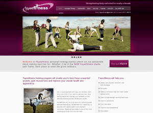 CMS Website Fayes Fitness