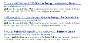 SEO or Search Engine Optimisation from Perfecto Online