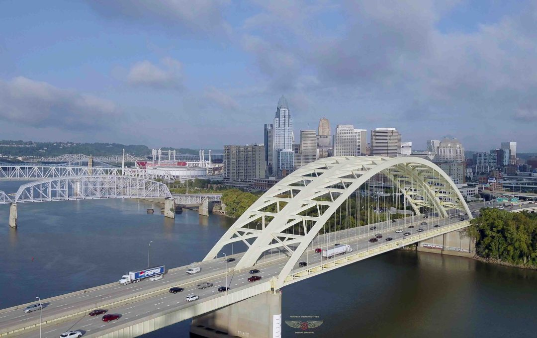 Cincinnati Aerial Photograph - Big Mac Bridge