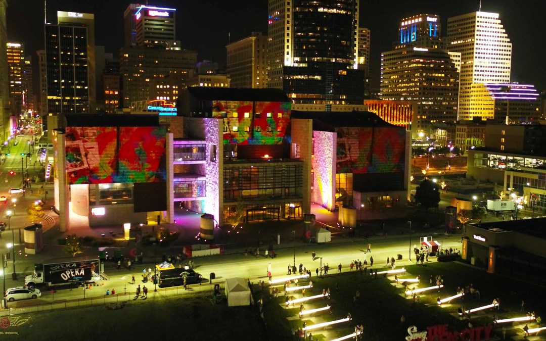 Perfect Perspectives Selected To Provide Drone Aerial Imaging Of Blink 2019 In Cincinnati