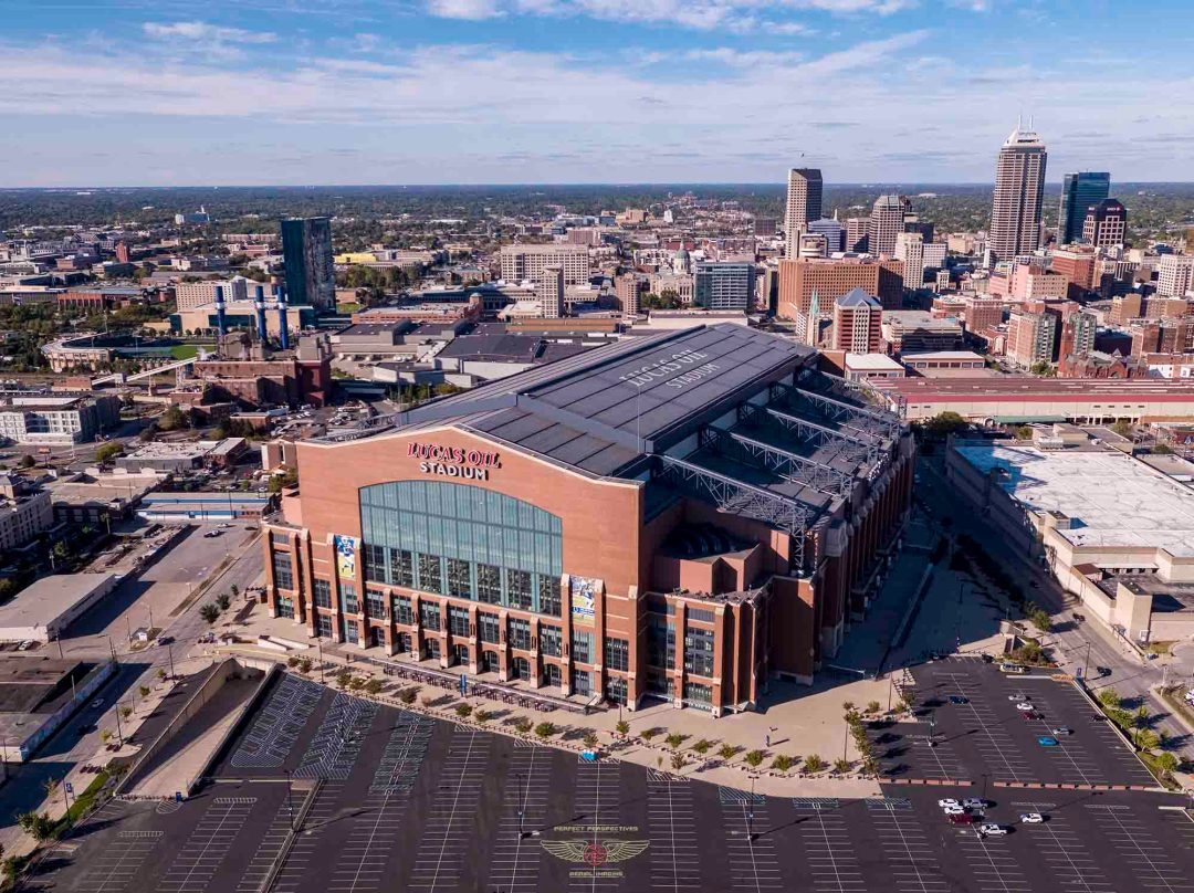 Drone Aerial Photograph Indianapolis Colts Stadium