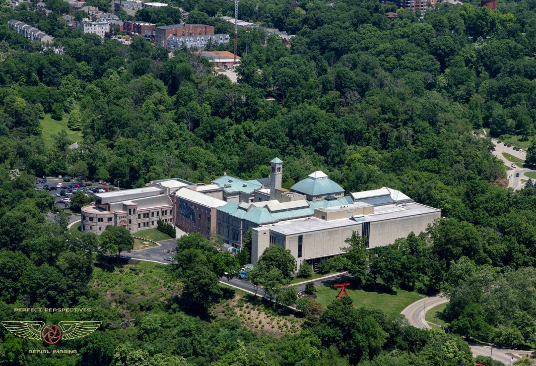 Cincinnati Aerial Photography of Art Museum in summer