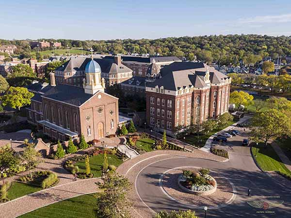 University of Dayton drone Aerial Photo View