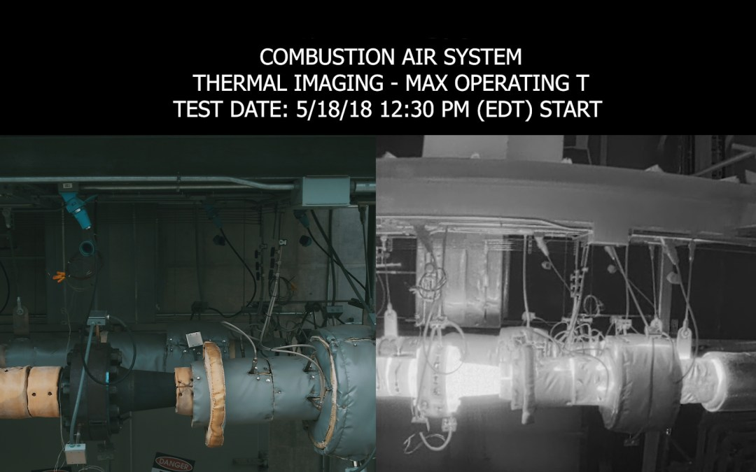 Drone Conducts Thermal Imaging Inspection of High Temperature Piping System