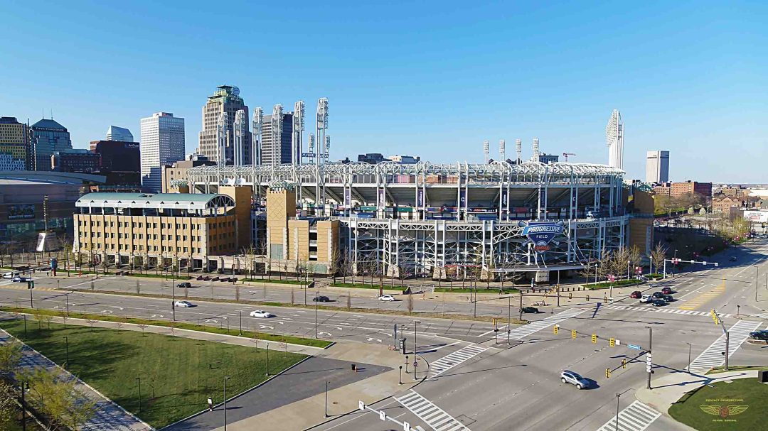 Cleveland Indians Field Authorized Drone Photo