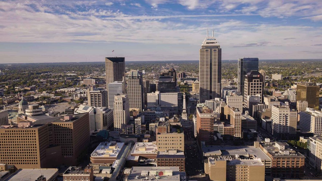 Downtown Indianapolis Drone Photo