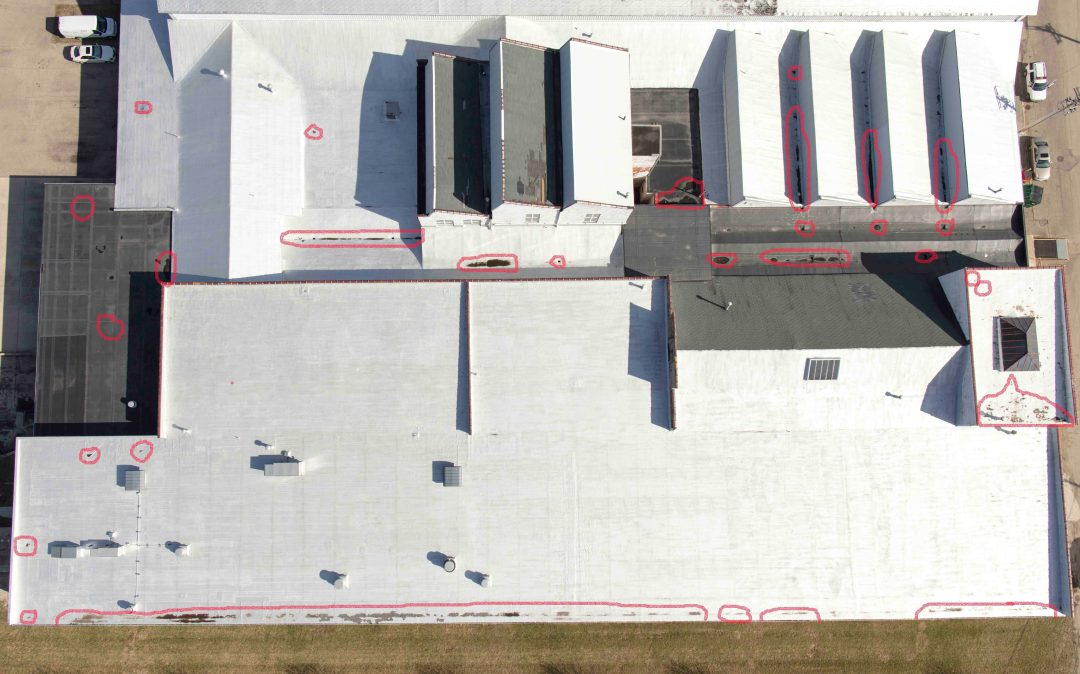 Industrial Roofing Drone Thermal Aerial Imaging Inspection