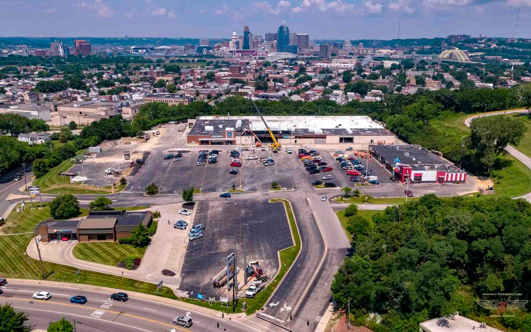 Cincinnati Drone Photo From Newport Plaza II Renovation