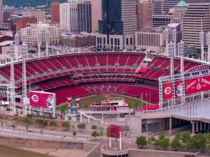 Cincinnati Reds Great American Ballpark Aerial Photo