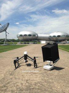 Drone Filming Dayton's Futuro Spaceship house