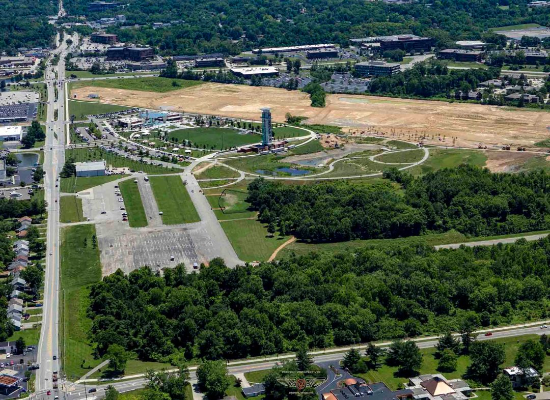 Cincinnati aerial photography - Summit Park construction completed
