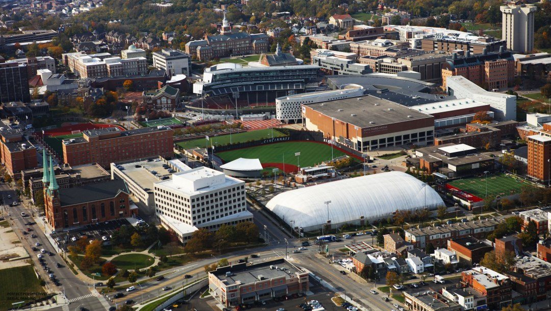 Helicopter Aerial Photograph of University of Cincinnati Campus