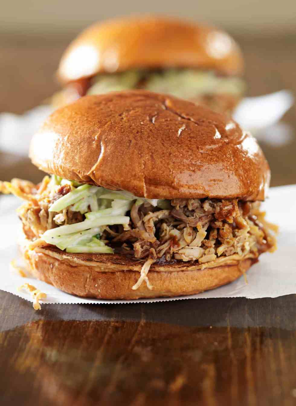 slow-cooker pulled pork, easy bbq sauce