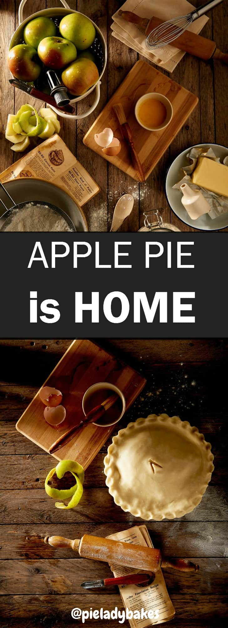 "My mom used to say ""apple pie without cheese, is like a kiss without a squeeze"". I loved to hear her say that more than anything! Fall is just around the corner and that's means apple picking season is too! You won't believe how easy it is to make this pie! Just thinking about the amazing aromas from an apple pie baking in my kitchen evokes strong memories of cozy family suppers,and the comforts of home."