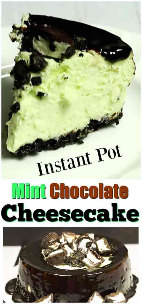 This easy dessert recipe uses an Instant Pot to make the most scrumptious, creamy & decadent Instant Pot Mint Chocolate Cheesecake ever!
