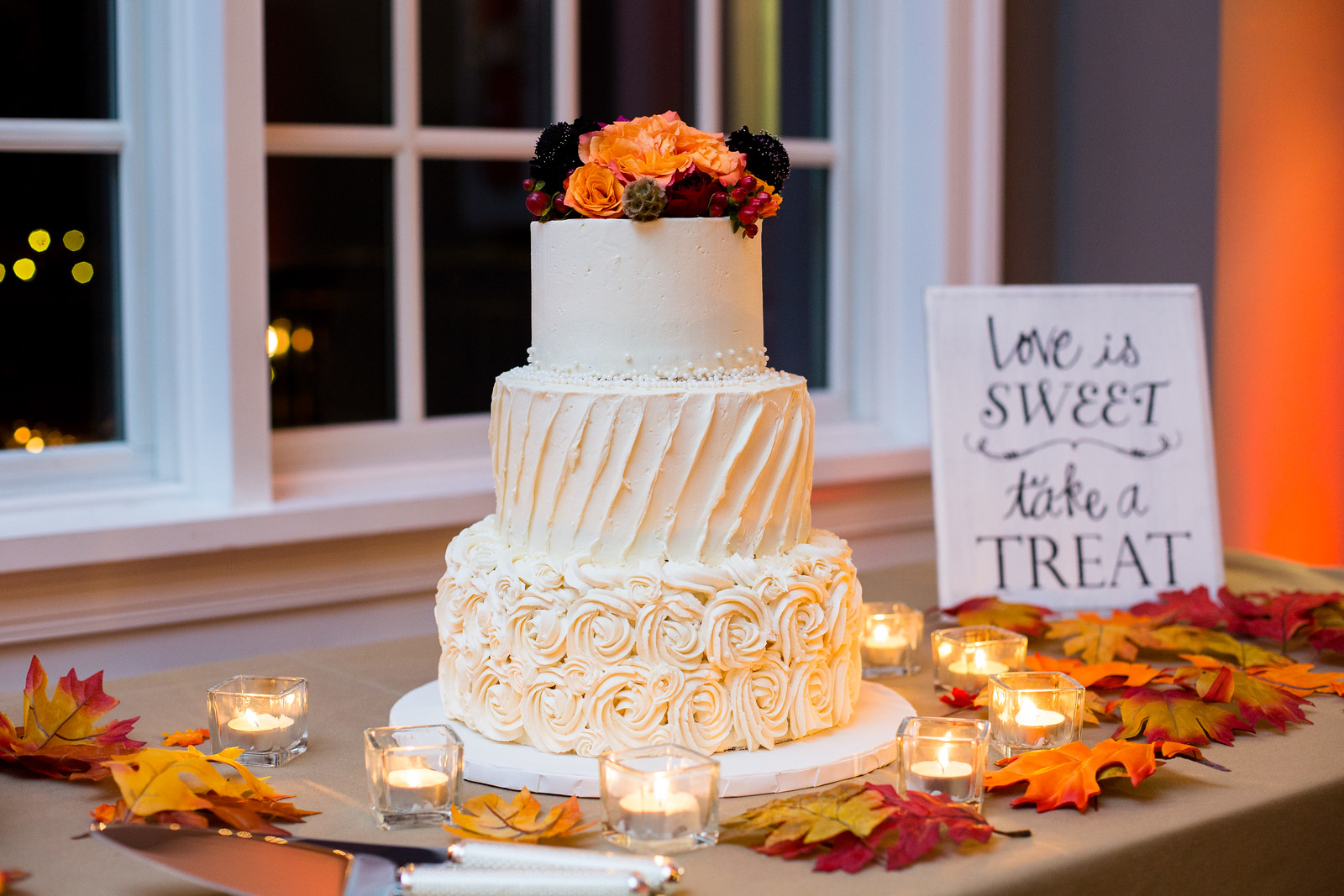 wedding cake fall weddings by perfect planning events