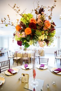 large fall wedding centerpieces by perfect planning events