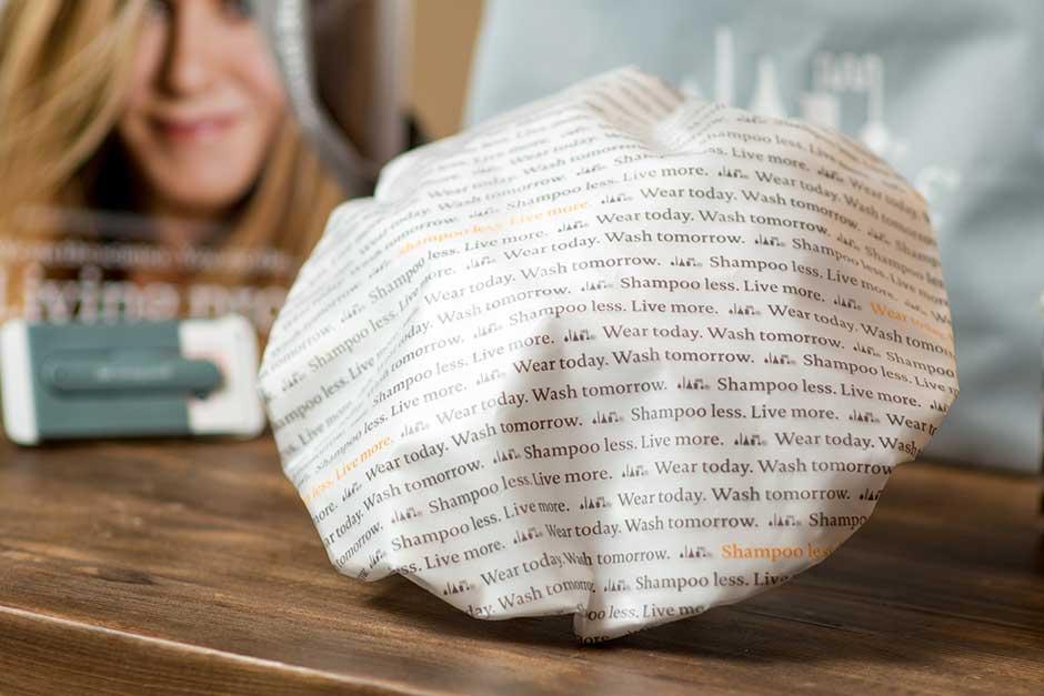 printed shower cap living proof