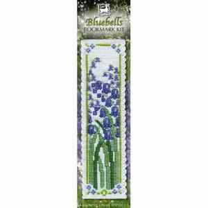 bluebell cross stitch bookmark