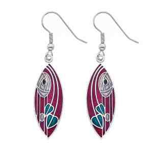 sea gems red earrings