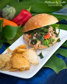 Slow Roasted Pork Slider with Sharp Provolone, Broccoli Rabe, Tucked into Amoroso Roll