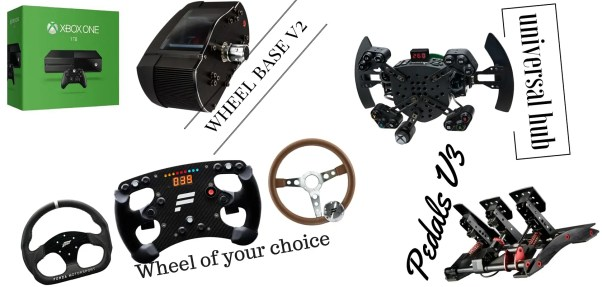 Xbox One Fanatec Recommendation - Wheel Base V2, ClubSport Pedals V3, Fanatec Universal Hub