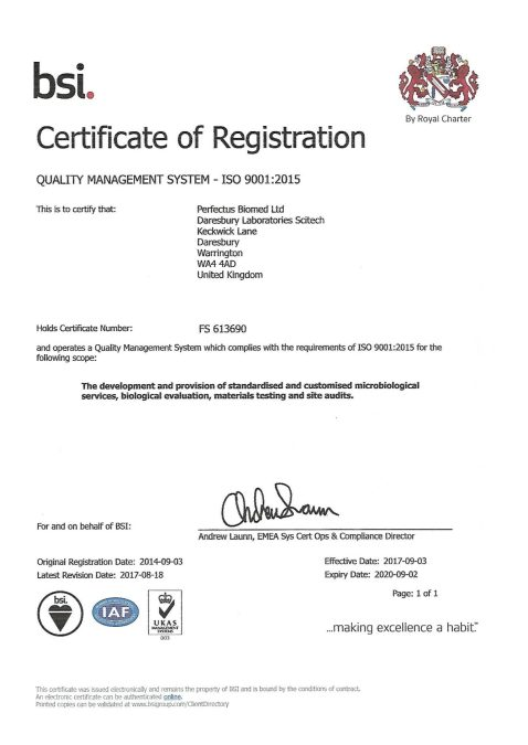 ISO 9001:2015 Recertification Success!