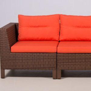 Модульный диван из искусственного ротанга