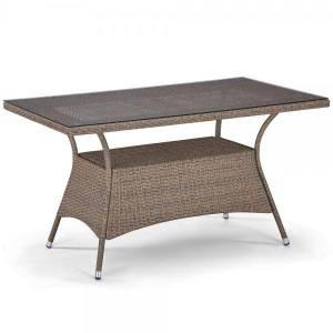 Большой стол из искусственного ротанга