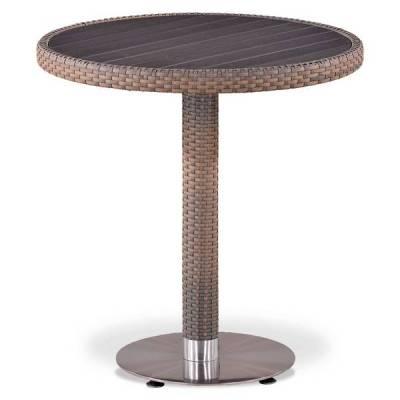Круглый стол из искусственного ротанга