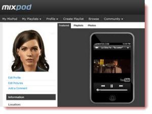 Mixpod, crear tus listas online de canciones con videos de YouTube