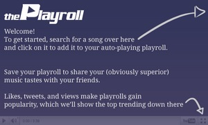 The Playroll, crear listas de videos para compartir